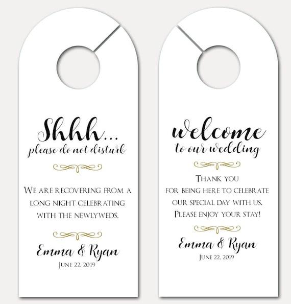 Wedding Door Hanger - Door Hanger for wedding - Bachelorette Party - Do Not Disturb Door Hanger - Wedding Guest Gift (6693)