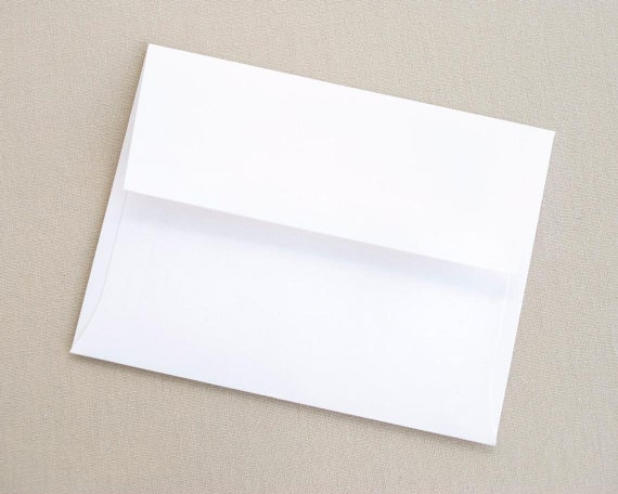 Blank White Envelopes - Set of 20 A2 Envelopes