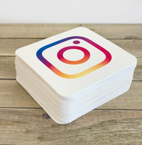 """Instagram, Social Media Cards, Mini Square Business Cards, 2.5"""" x 2.5"""", Etsy Seller, Thank You Card, Packaging, Marketing - Set of 50 (2276)"""