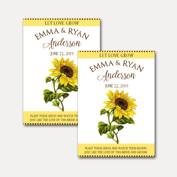 DIY Custom Seed Packets, Kraft, Personalized Envelopes, Wedding Favors, Bridal Shower, Seed Packet, Let Love Grow 8936
