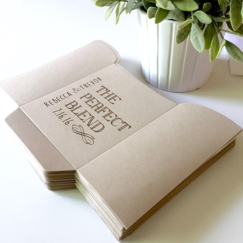 Diy The Perfect Blend Bags Wedding Favors Coffee Bags Custom