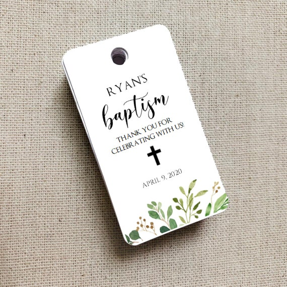 Baptism Favor Tags, Baptism Thank You Tags, Personalized Baptism Favor Tag, First Communion Tags, Mi Bautizo Tags, Baptismo 8373