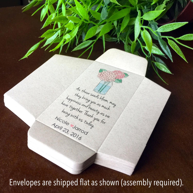 DIY Custom Seed Packets, Sunflower Envelope, Kraft, Personalized ...