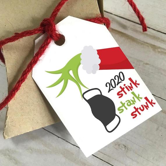 DIY PRINTABLE Tags  |  Stink Stank Stunk  |  Printable Christmas Gift Tags | Holiday Gift Tags | Gift Tags. 2020, Grinch