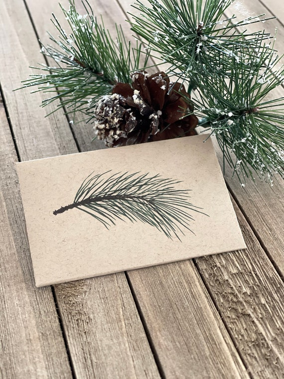 Evergreen Gift Card Envelopes | Christmas Card | Gift Card Holder | Enclosure Cards | Gift Tags |  EV2970