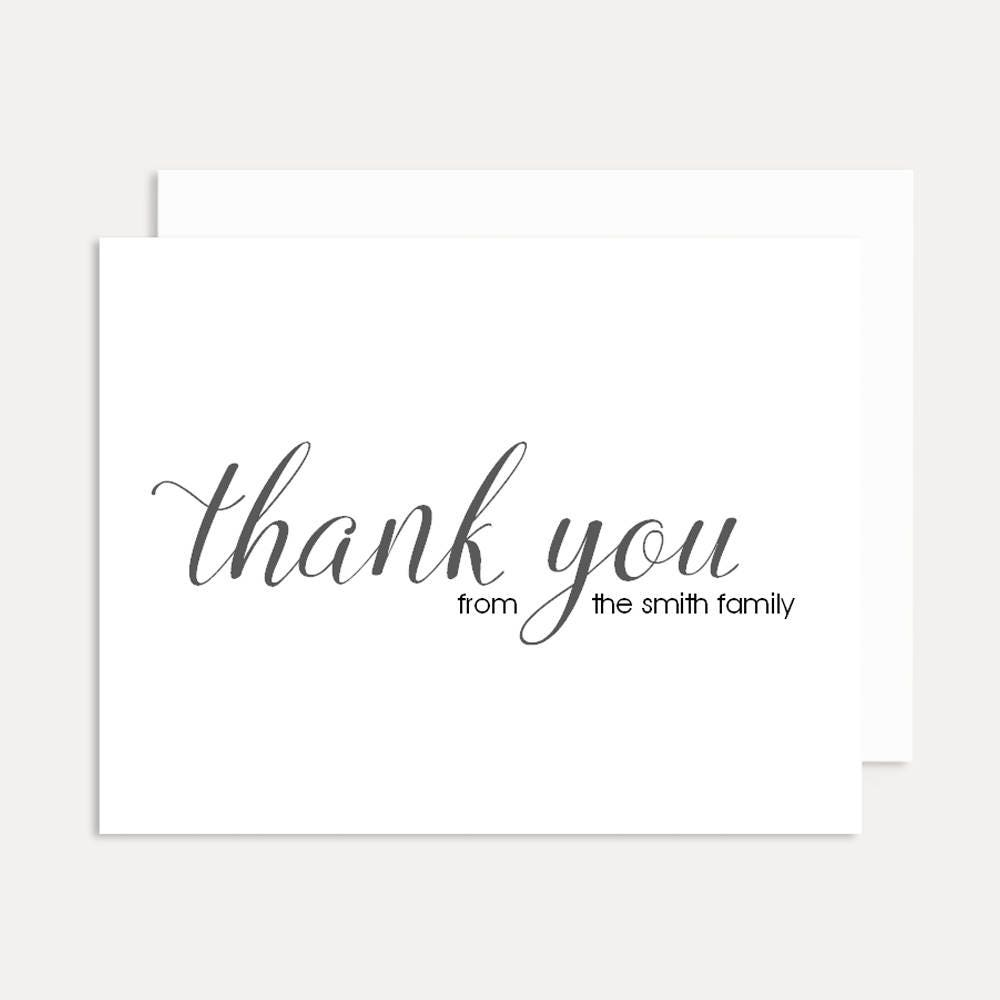 thank you note cards personalized stationery set personalized folded note cards personalized thank you cards a2 card - Personalized Folded Note Cards
