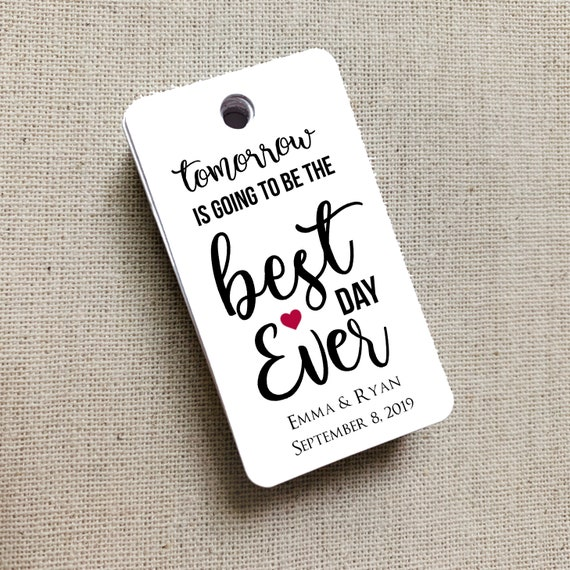 Best Day Ever, Wedding Gift Tags, Wedding Rehearsal Dinner, Custom Favor Tags, Gift Tag, Wedding Favor Gift Tag - Set of 20