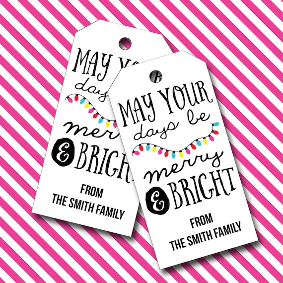 Christmas Tags, Holiday Tags, Wine Tags, Gift Tags, Christmas, Merry Christimes - Set of 16