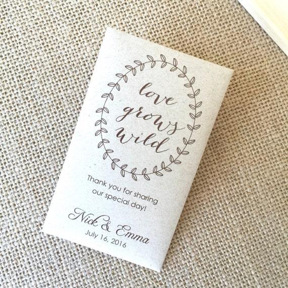 DIY Custom Seed Packet Wedding Favors, Custom Envelope, Kraft, Envelopes, Wedding Favors, Bridal Shower, Seed Packet, Let Love Grow