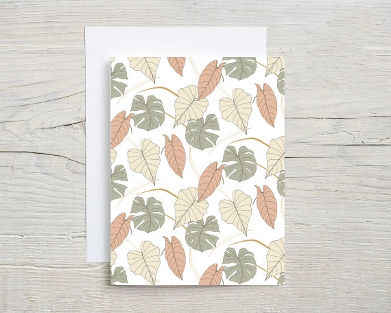 tropical card set  | blank note cards  | folded card  | stationary set  | card  | thank you card | thinking of you card | 3267