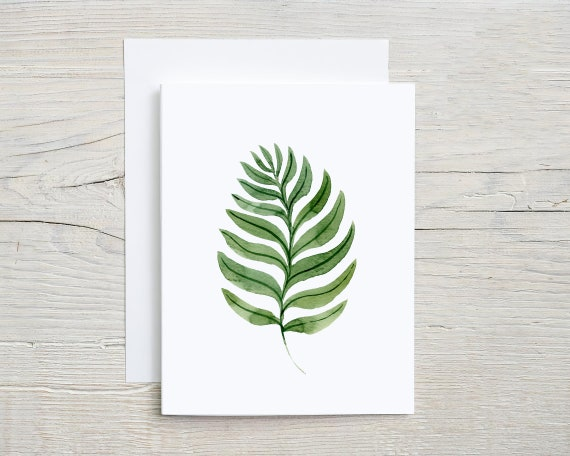 tropical leaf card set    blank note cards    folded card    stationary set    card    thank you card   thinking of you card   7636