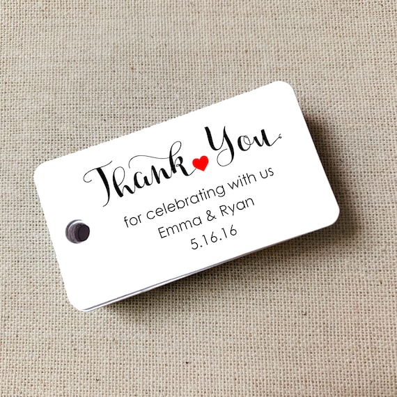 Custom Thank You Tags, Wedding Tags, Personalized Tags, Custom Wedding Tags, Gift Tags, Personalized, Custom Tags - Set of 40