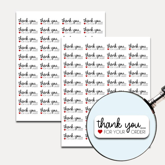 Thank You for Your Order Stickers, Etsy, Packaging stickers, Thank you stickers, Thank you labels,  Labels, Shipping Supplies