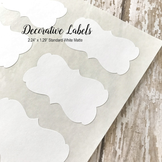 "White Decorative Stickers, Blank Stickers, Labels, DIY Stickers - 2.24"" x 1.29""  (72 Stickers)"