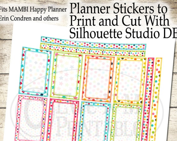 Happy Planner Printable Stickers - Confetti Planner Sticker - Happy Planner Weekly Kit - Printable Planner - Print Cut Silhouette Studio DE