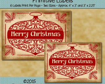 farmhouse labels printable labels christmas labels etsy