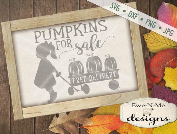 Pumpkin SVG  - Pumpkins For Sale svg - Girl wagon svg - Fall SVG  - pumpkin wagon svg