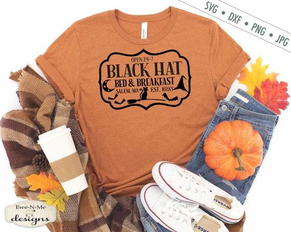 Black Hat Bed Breakfast svg - Black Cat SVG