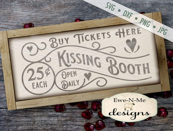 Kissing Booth SVG - Valentine SVG - Kissing SVG - valentines day svg