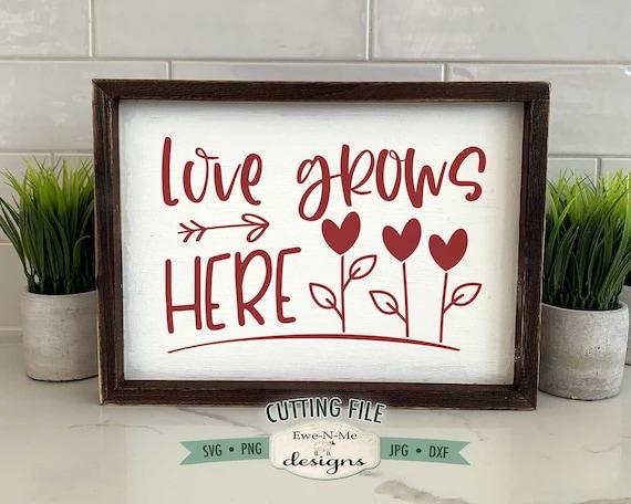 Love Grows Here SVG - Valentine SVG
