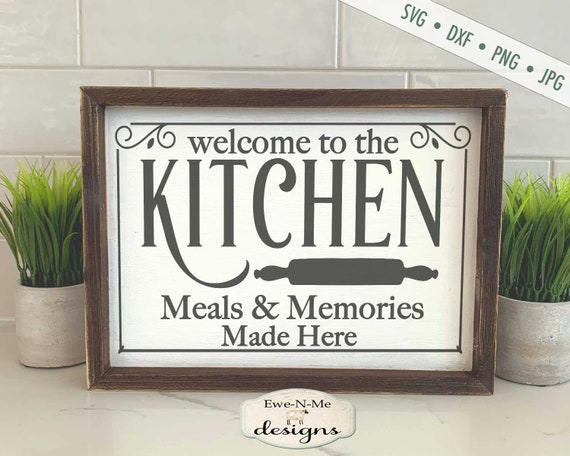 Kitchen Meals and Memories SVG