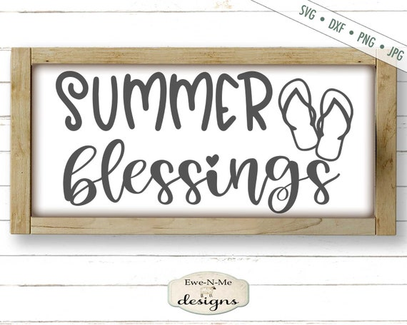 Summer Blessings SVG - Flip Flops SVG