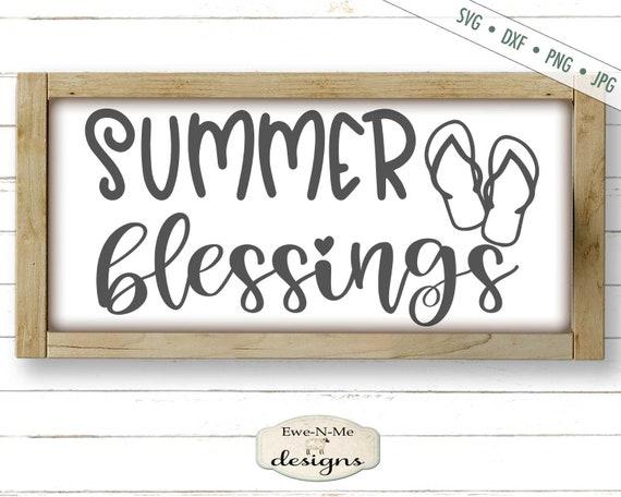 Summer Blessings SVG - Flip Flops SVG