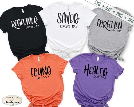Redeemed - Saved - Healed - Found - Forgiven - Christian SVG Bundle