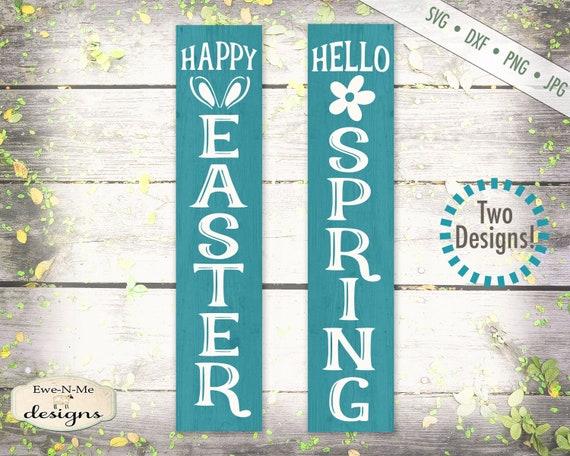 Spring svg - Easter svg - porch sign svg - hello spring svg - happy easter svg