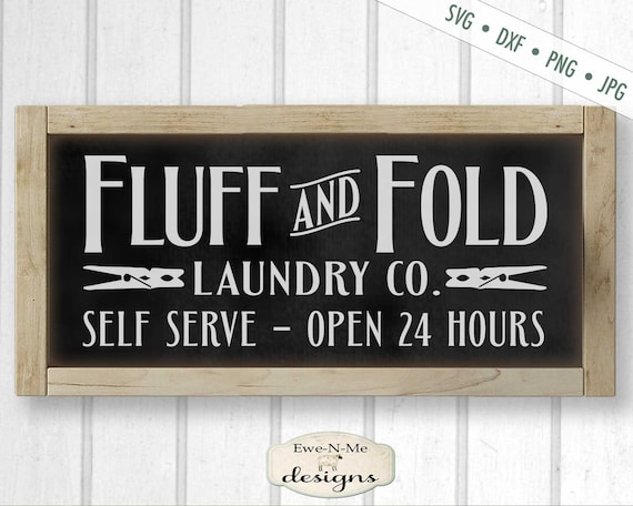Fluff and Fold Laundry Co - SVG