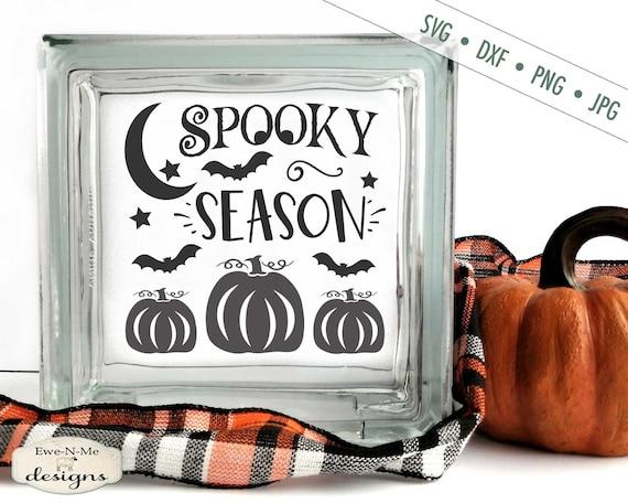 Spooky Season SVG - Pumpkins Moon Stars Bats SVG
