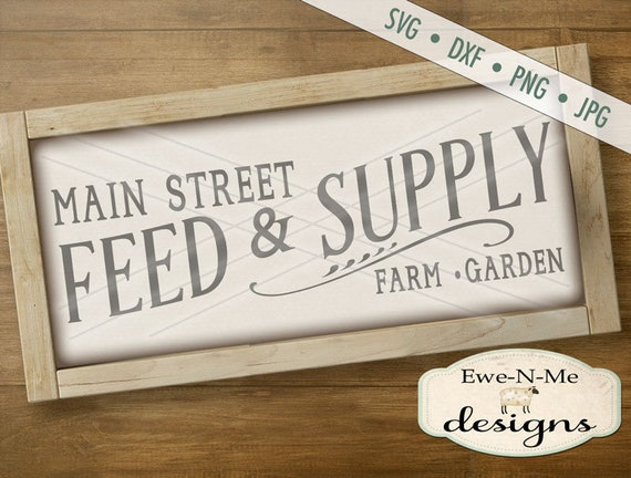 Feed Supply SVG - farm svg - garden svg - rustic feed sign svg - farmhouse style svg - Commercial Use svg, dxf, png, jpg