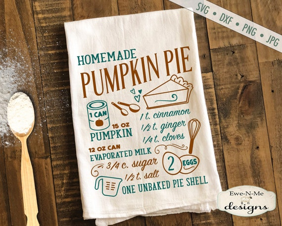 Pumpkin Pie SVG  - pie recipe svg - Fall svg - Pumpkin svg - Autumn SVG - Kitchen svg - Commercial Use svg, dxf, png and jpg files
