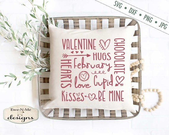Valentine SVG - Hugs Kisses SVG - Heart SVG - Valentine Subway svg - Love svg