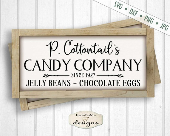 Easter SVG - Cottontail svg - Candy Company SVG - Jelly Beans Chocolate Eggs SVG