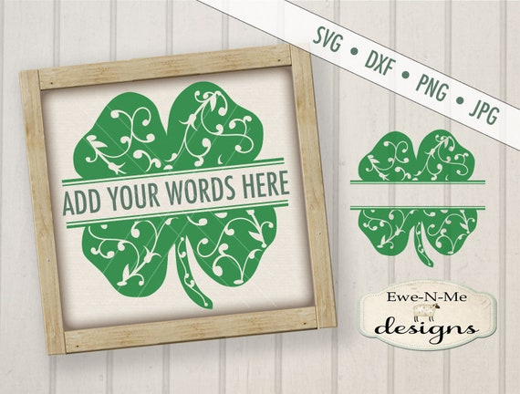 St Patricks Day SVG - shamrock vine svg - Split Shamrock SVG - St Patricks SVG - clover svg -  Commercial Use svg, dxf, png and jpg