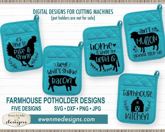 Farmhouse Potholder SVG Bundle - Lake svg