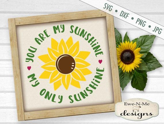 Sunshine SVG - Sunflower svg - You Are My Sunshine SVG