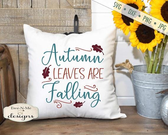 Autumn SVG File -  Fall SVG -  Autumn Leaves SVG - harvest svg - Commercial Use svg, dxf, png and jpg