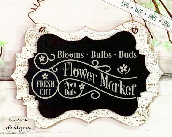 Spring SVG - Flower Market svg - Bulbs Blooms Buds svg - Flower svg - Fresh Cut Flowers