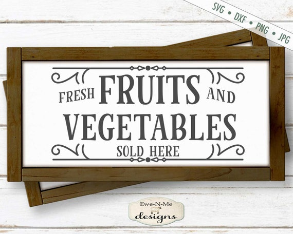 Fresh Fruits and Vegetables SVG