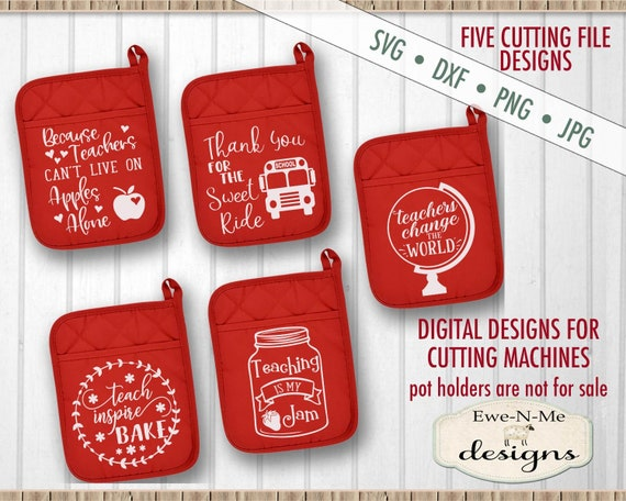 Teacher SVG - School SVG  - Pot Holder svg bundle - Potholder svg  - SVG for Dollar Tree Pot Holders - Commercial use svg, dxf, png, jpg