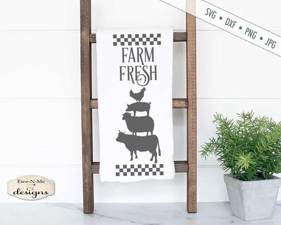 Stacked Farm Animals SVG - Farm Fresh SVG