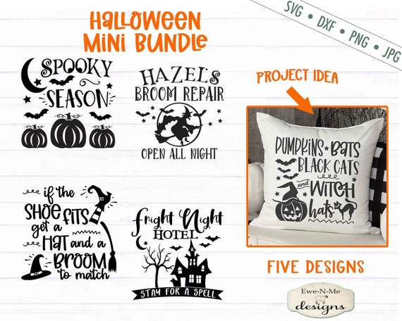 Halloween SVG Bundle - Witch svg - Haunted House svg - Spooky Season SVG - Bats svg - Commercial Use svg, dxf, png and jpg files