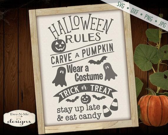 Halloween SVG - Halloween Rules SVG - halloween subway svg  - Jack o Lantern SVG - Ghost svg