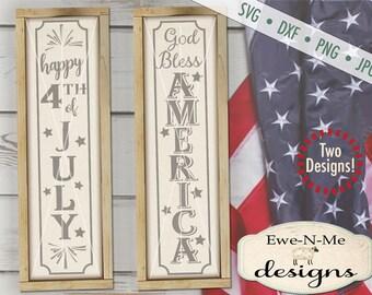 July 4th svg - God Bless America svg - porch sign svg - American svg - 4th of July SVG - Independence - Commercial use svg, dxf, png, jpg