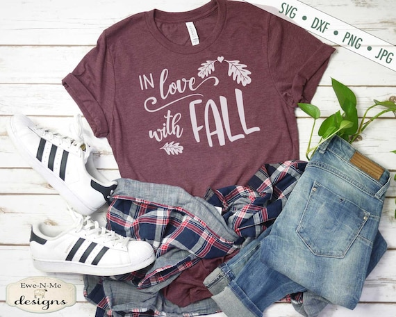In Love With Fall SVG - Commercial Use svg, dxf, png, jpg