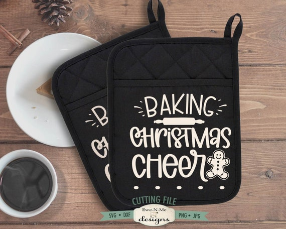Baking Christmas Cheer SVG -  Pot Holder SVG