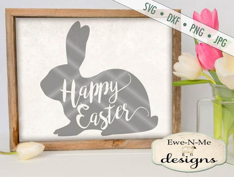 Happy Easter SVG  Easter SVG  Easter Bunny SVG image 0