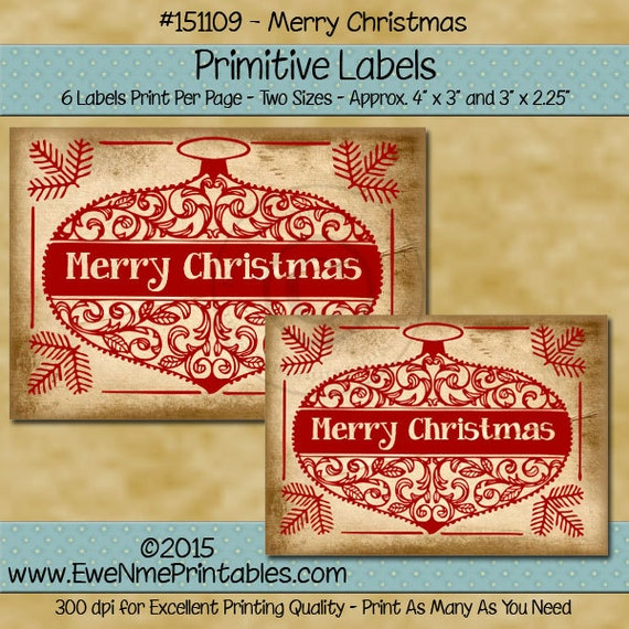 christmas printable christmas tag christmas labels etsy